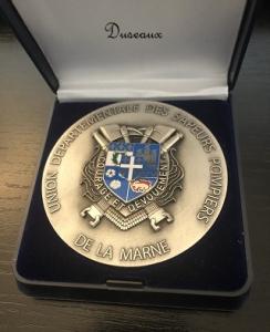 Médaille Sapeur-Pompier, diamètre 70 mm